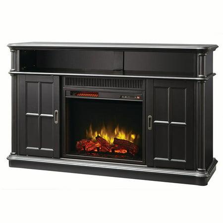 Muskoka Albion 60 Infrared Media Electric Fireplace Providence Black