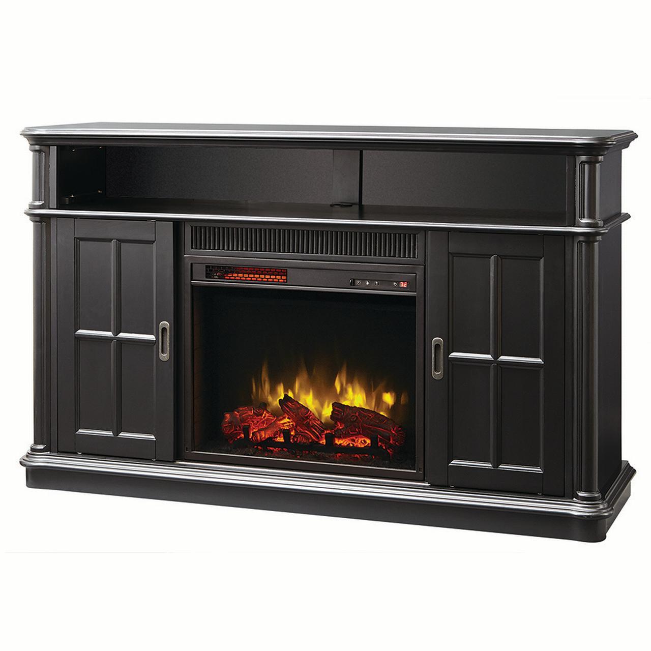 "Muskoka Albion 60"" Infrared Media Electric Fireplace - Providence Black"