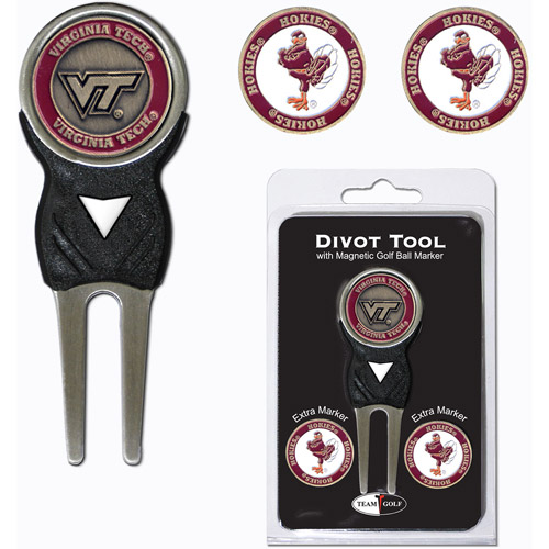 Team Golf NCAA Virginia Tech Divot Tool Pack With 3 Golf Ball Markers