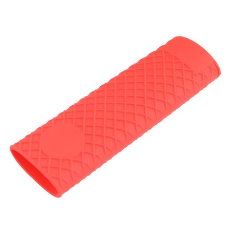 Home Restaurant Kitchen Silicone Heat Resistant Pot Stockpot Handle Cover Red for Christmas Teflon Handle Cover