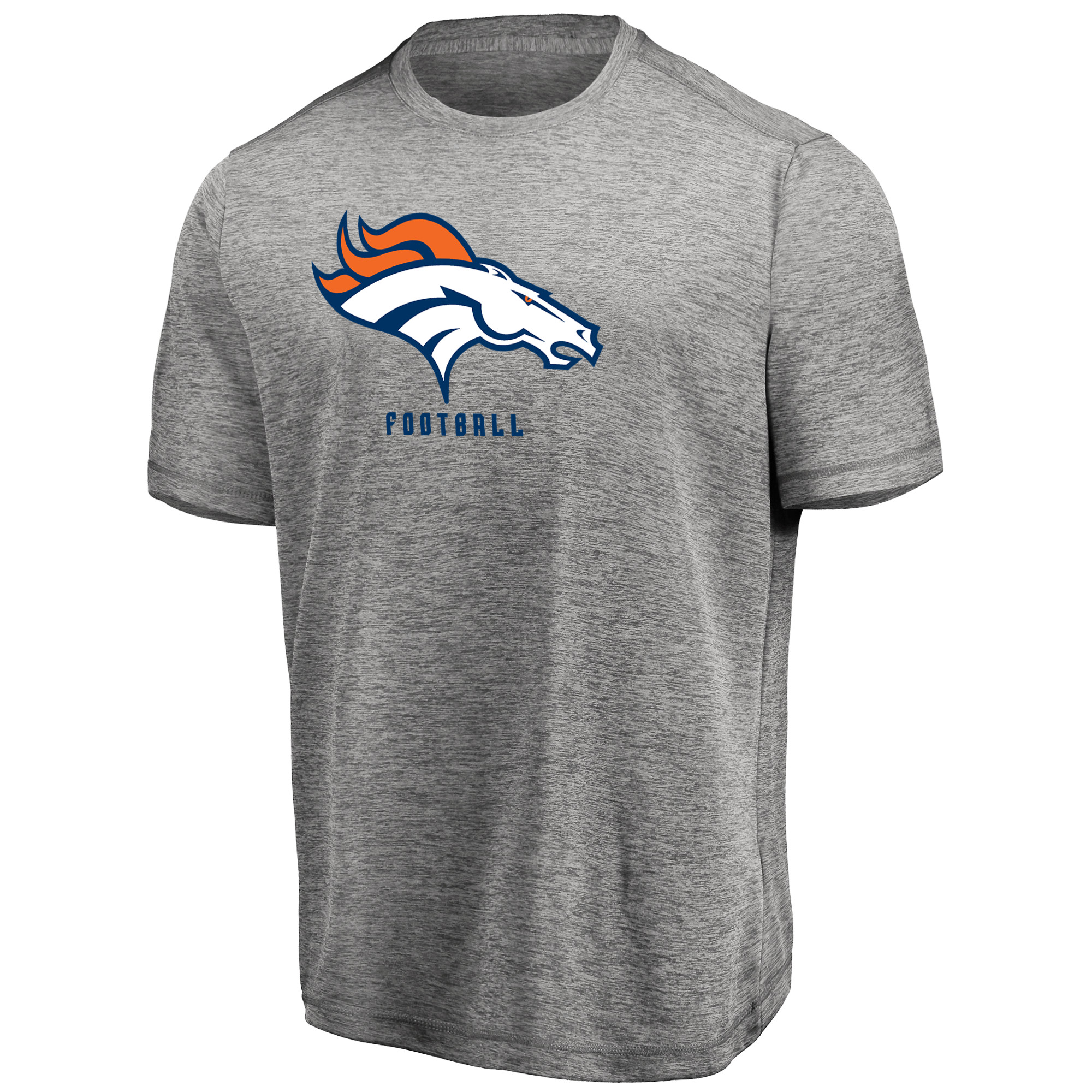 Men's Majestic Heathered Gray Denver Broncos Proven Winner Synthetic TX3 Cool Fabric T-Shirt