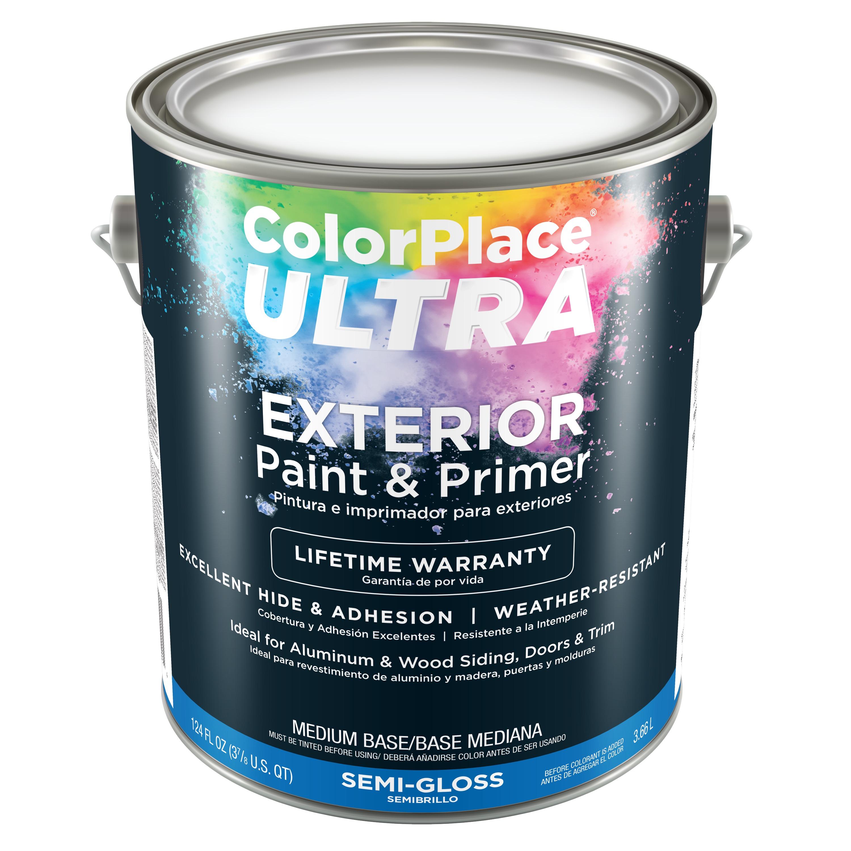 Color Place Ultra Semi-Gloss Exterior Paint & Primer Medium Base 1-Gal