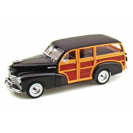 1948 Chevy Fleetmaster, Black - Welly 22083 - 1/24 scale Diecast Model Toy - 1948 Chevy Car
