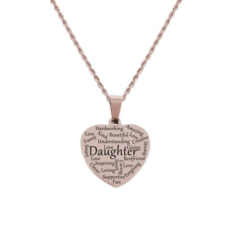 Heart Tag Necklace - Daughter