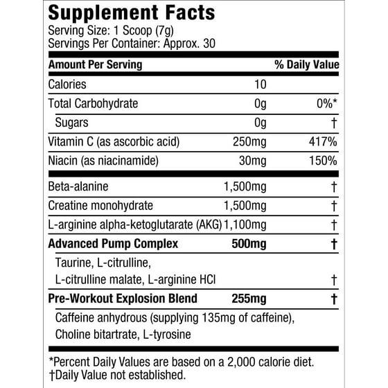 7b231b81d Six Star Pro Nutrition Pre Workout Explosion Powder, Fruit Punch, 30  Servings - Walmart.com