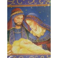 Holiday Time Matthew 5:6 Mary Joseph & Baby Jesus Christian Christmas Cards