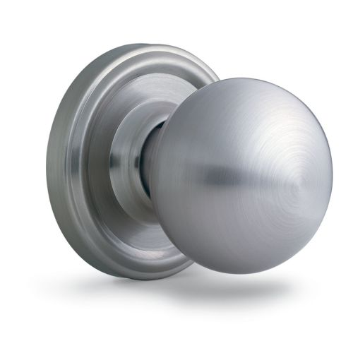 Weslock 411D Barrington Privacy Door Knob with Round Rose from the Essentials Collection