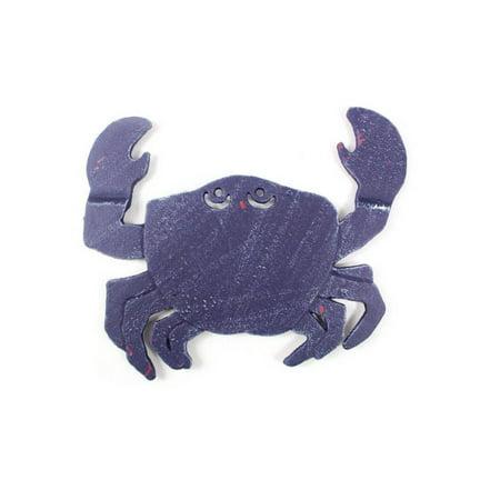 Rustic Dark Blue Cast Iron Crab Trivet 11