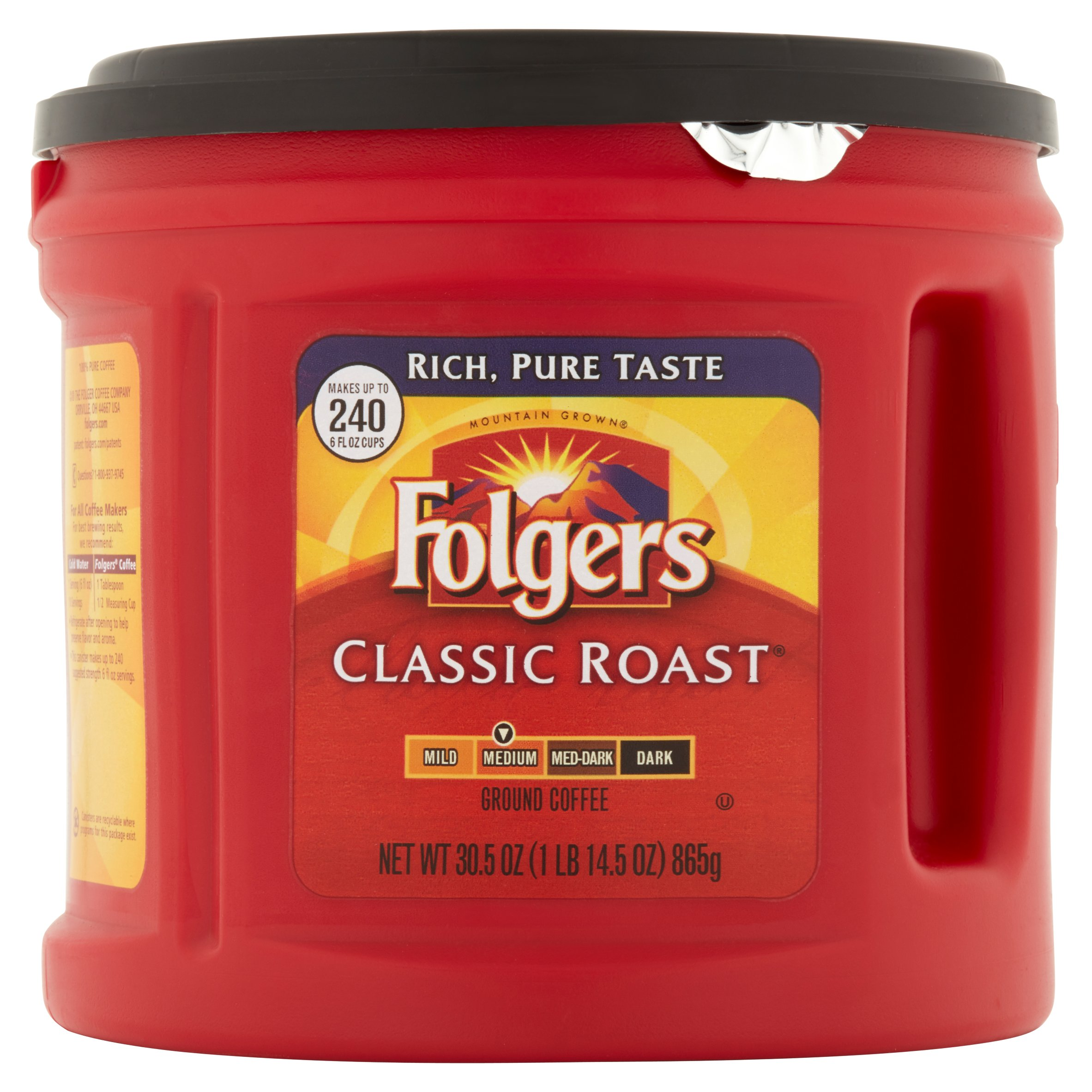 Folgers Classic Roast Ground Coffee Medium, 30.5 OZ