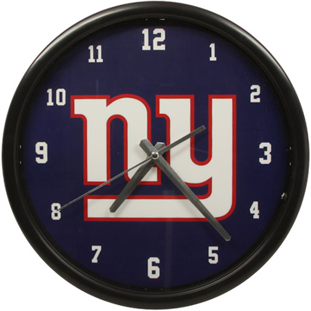 New York Giants Black Rim Basic Clock - No Size