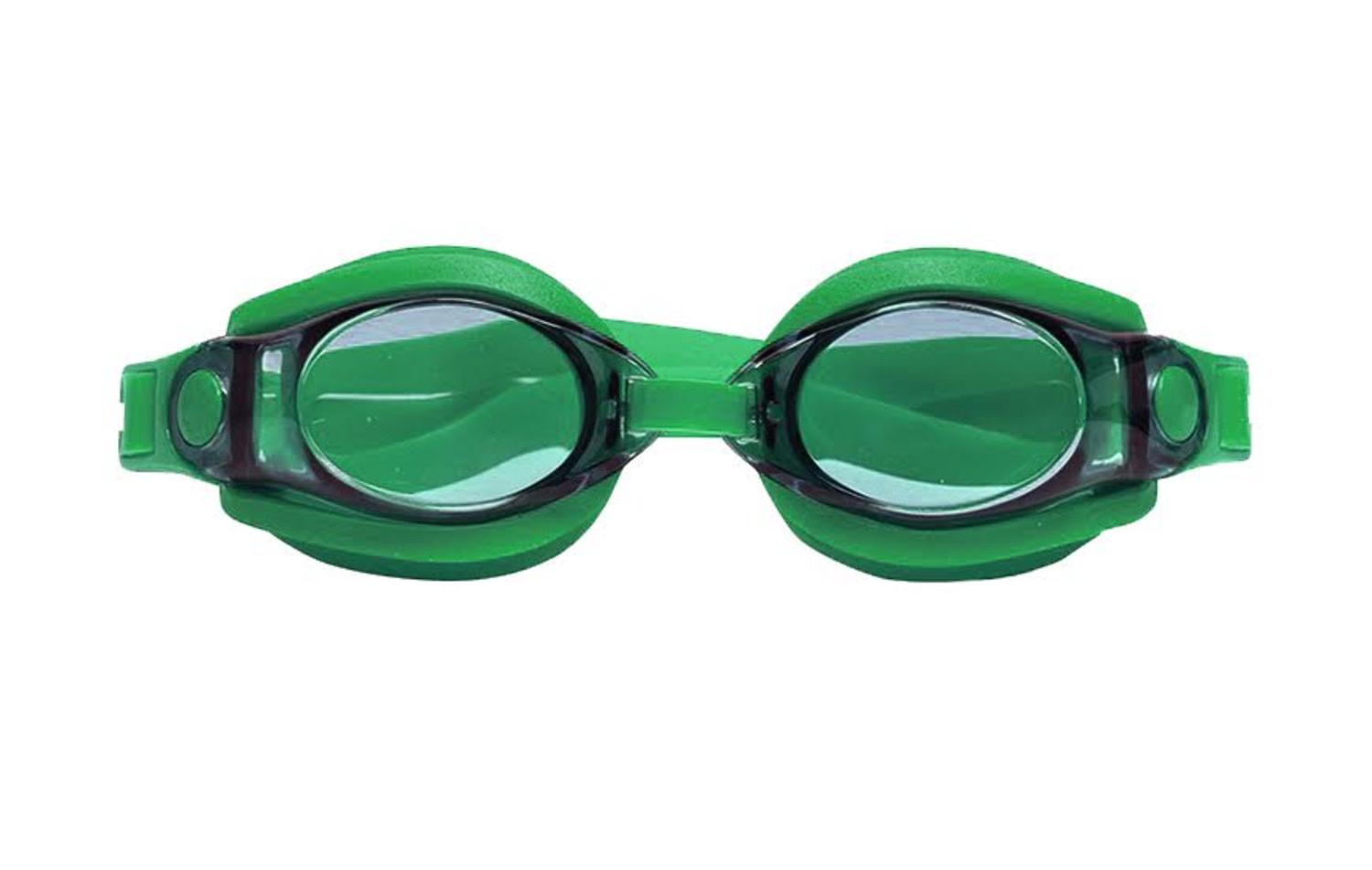 """7"""" Silicone Sport Fitness Green Goggles Swimming Pool Accessory for Juniors, Teens and Adults by Swim Central"""
