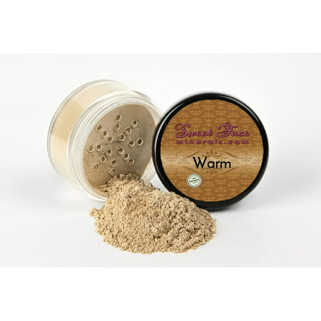 - NEUTRAL WARM FOUNDATION by Sweet Face Minerals Sample to Bulk Sizes Mineral Makeup Bare Skin Sheer Powder Cover (5 Gram Sample Jar)