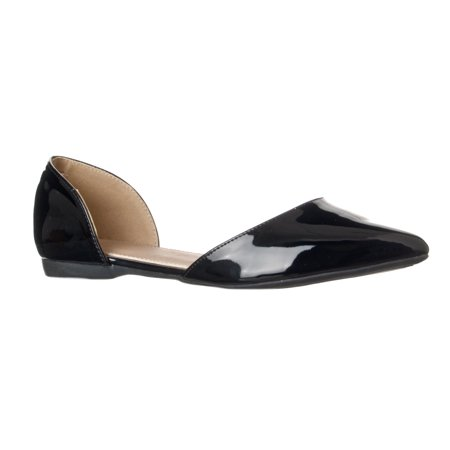 Riverberry Women's Riley Pointed Toe d'Orsay Open Side Flat