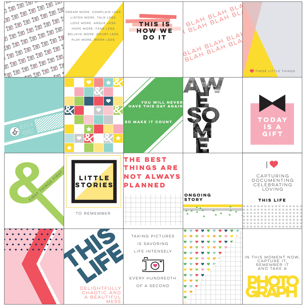 "Life Noted Card Pack 3""X4"" 20/Pkg-"