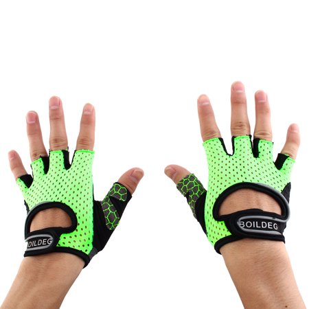 BOILDEG Authorized Sports Fitness Breathable Palm Support Gloves Green L Pair - image 6 de 6