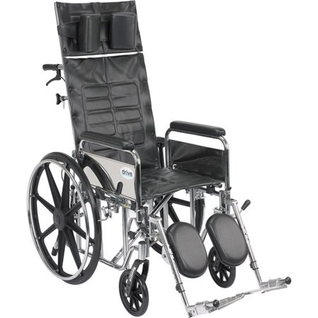 Drive Medical Sentra Reclining Wheelchair With Full Arms