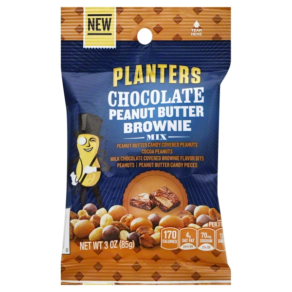 Kraft PLANTERS SNACK NUTS CHOCOLATE PEANUT BUTTER BROWNIE