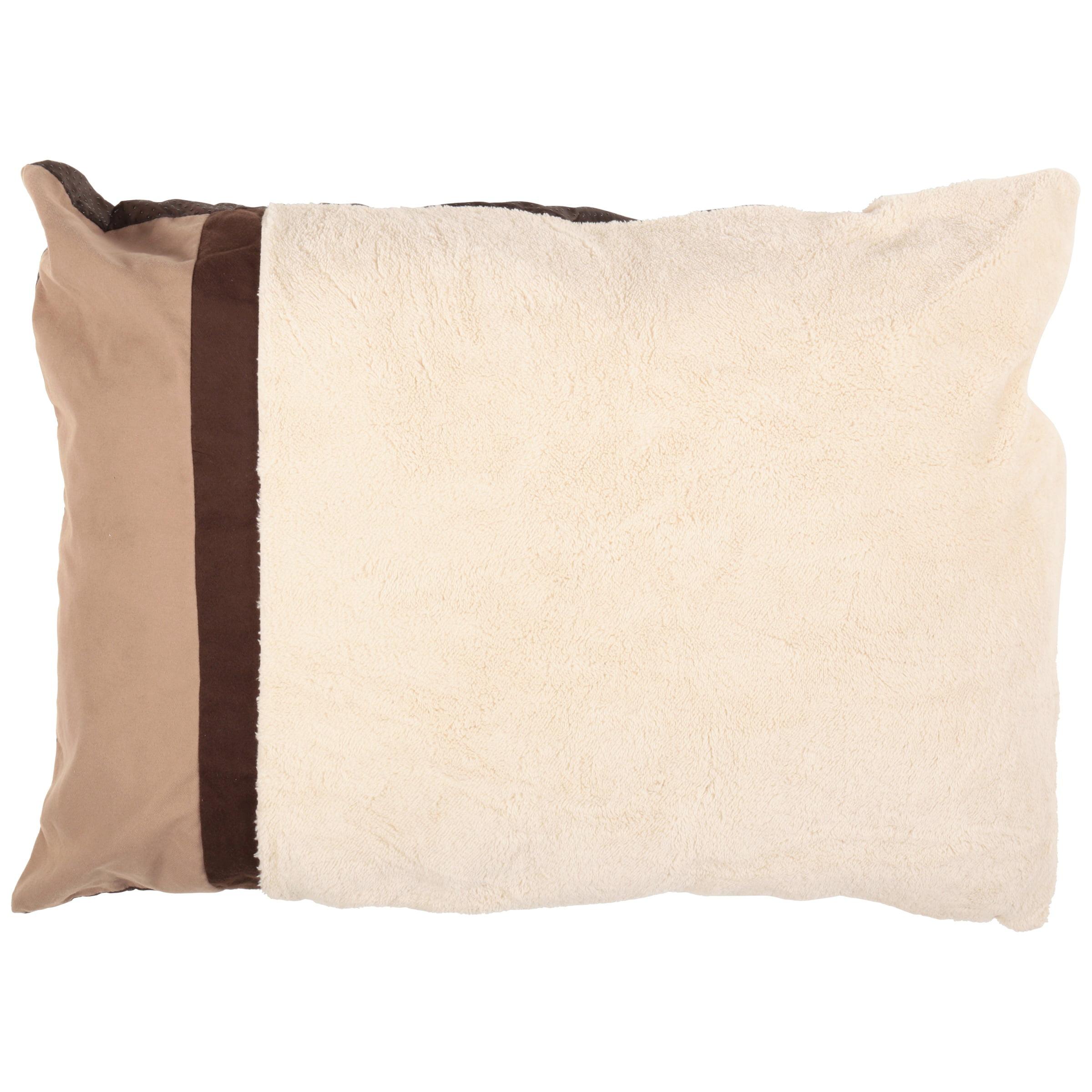 "Aspen Pet Classic Pillow Dog Bed, Brown, 27""L x 36""W"