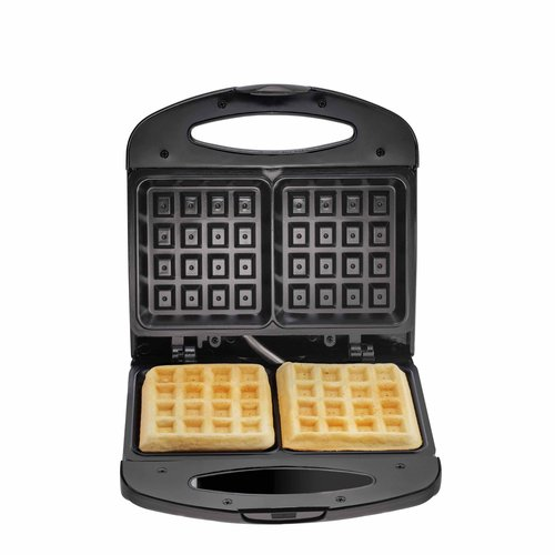 Chefman Waffle Maker, Black, 2 Slice with Non-Stick Coating