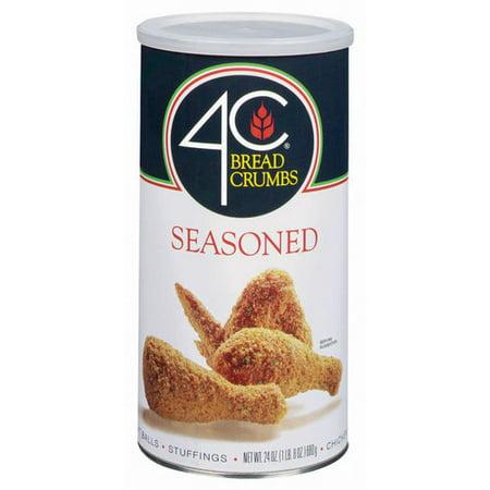 (4 Pack) 4C Seasoned Bread Crumbs, 24 oz