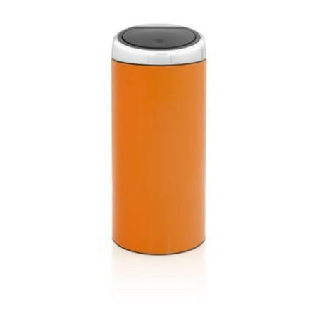 Brabantia Touch Bin 30 Liter.Brabantia Touch Bin 30 Liter Chrome Orange Walmart Com