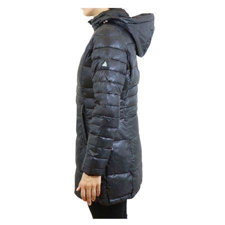 Women's Silhouette Style Puffer Jacket With Detachable Hood - image 1 of 6