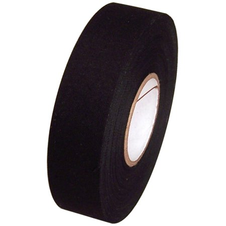 Black Cloth Hockey Stick Tape 1 inch x 25 yards
