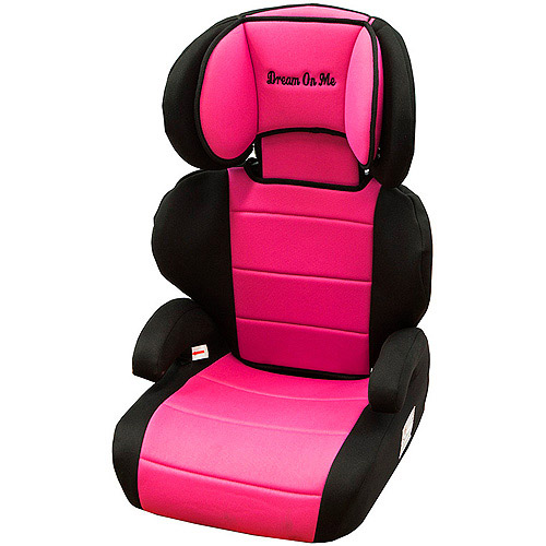 Dream On Me Deluxe Booster Car Seat,Black/Pink