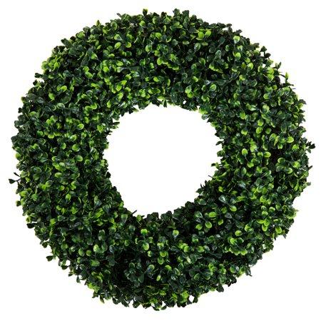 Pure Garden 16.5 inch Round Boxwood Wreath