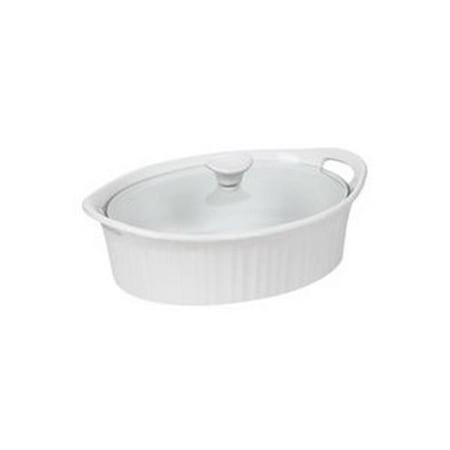 Kitchen 1105935 Baking Dish French White 2.5 Quart Oval