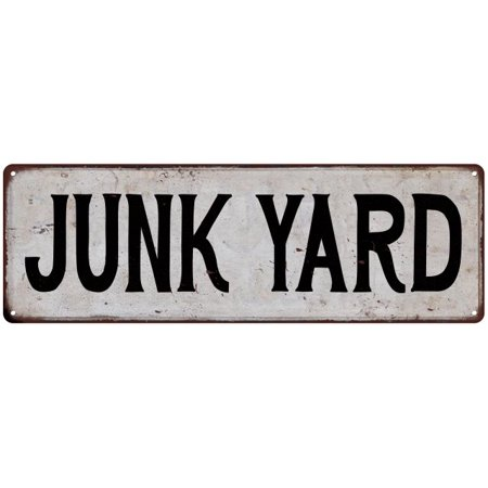 JUNK YARD Vintage Look Rustic Metal City State Sign 6 x 18 High Gloss Metal 206180041208 (Rusted Stake)