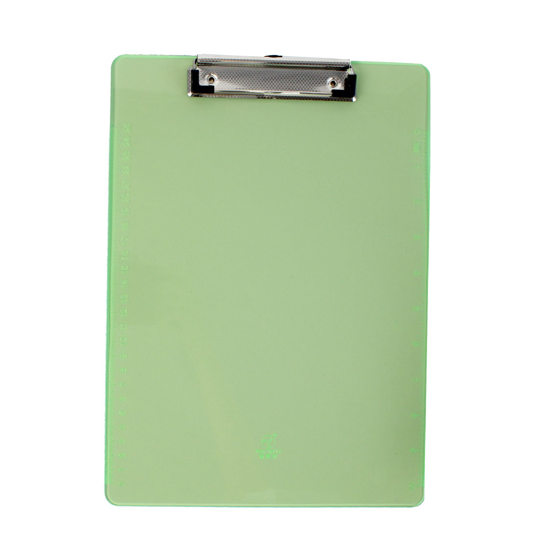 Office   A4 Paper File Note Holder Clamp Clip Board Hardboard Clear Green - image 3 of 3