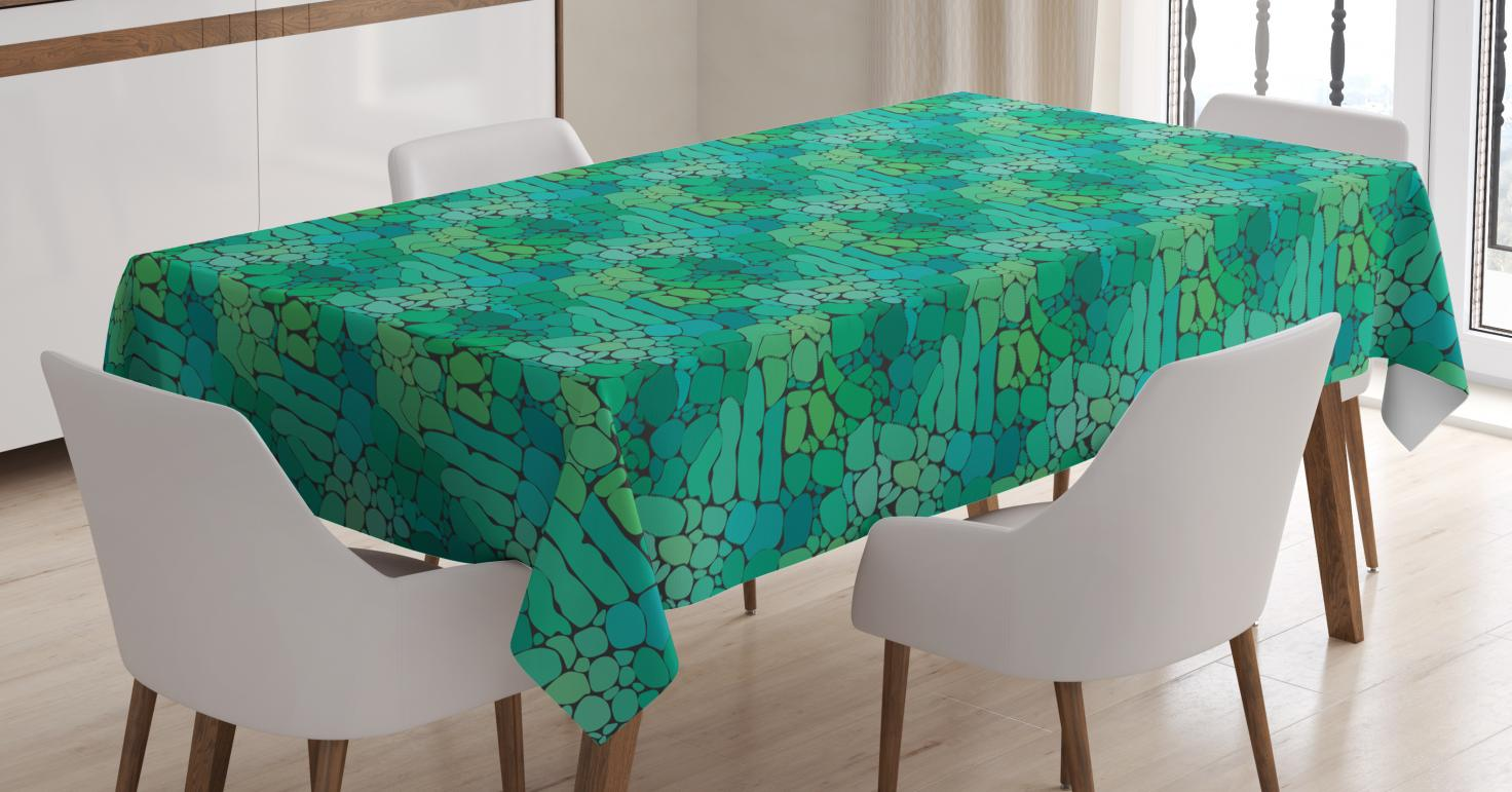 225 & Alligator Tablecloth Exotic Crocodile Snakeskin Abstract Pattern Graphic Animal Print Rectangular Table Cover for Dining Room Kitchen 60 X 84 ...