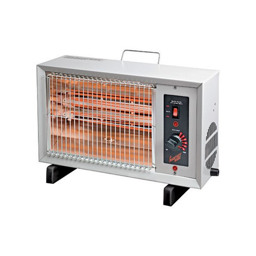 Comfort Zone 5,120-BTU Electric Radiant Heater, Gray CZ530WM