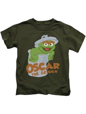 Sesame Street - Flat Oscar - Juvenile Short Sleeve Shirt - 5/6
