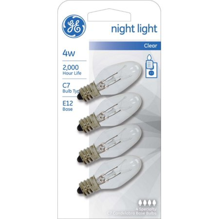GE Night Light Bulb Standard, 4 Watt, Clear 4 ea (Pack of 2)](Halloween Night Light Bulbs)