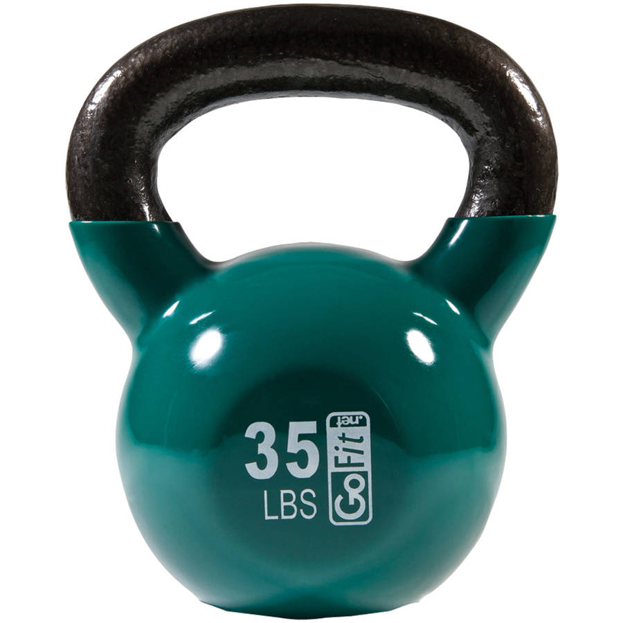 GoFit Contour Kettlebell and DVD, 35 lbs, Green by Gofit