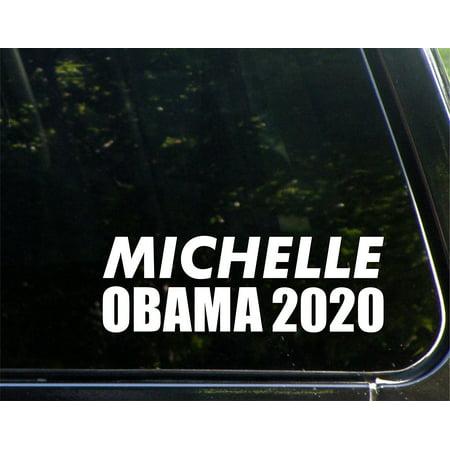 Obama Buttons Bumper Stickers (Michelle Obama 2020 - 8-3/4