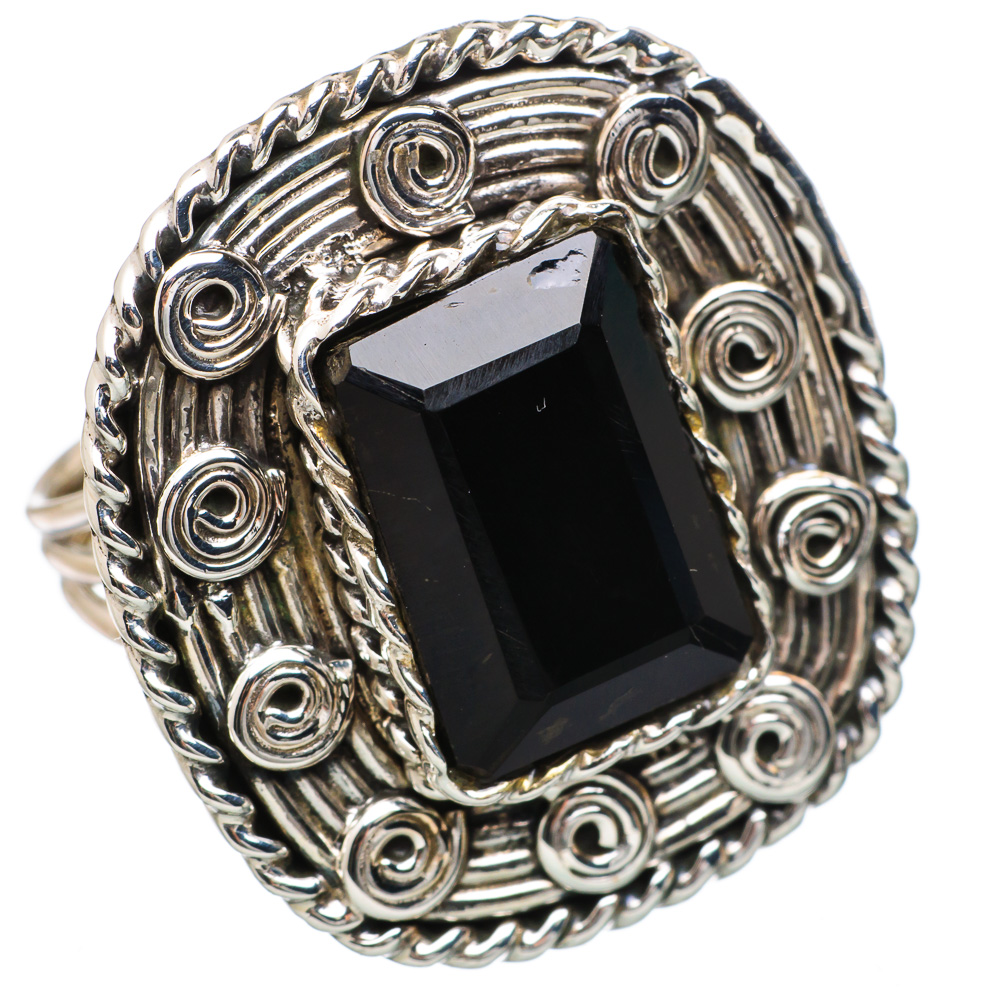 Ana Silver Co Large Black Onyx 925 Sterling Silver Ring Size 7.5 RING836514