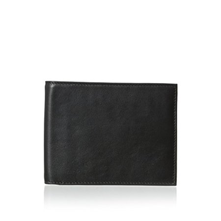 Bosca Men's Nappa Vitello Collection - Continental ID Wallet Black Leather Wa...