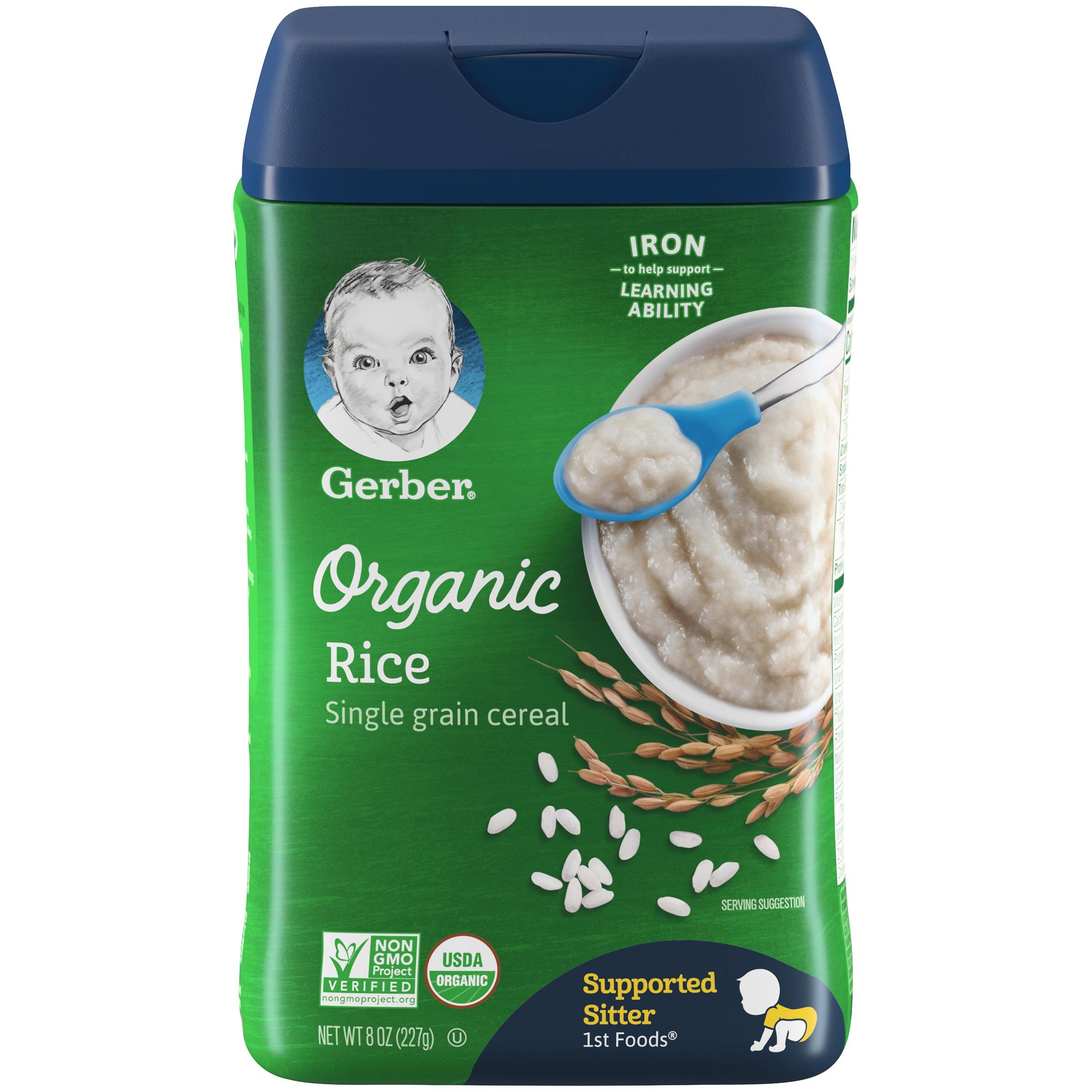(6 Pack) Gerber Organic Rice Baby Cereal, 8 oz. - Walmart.com