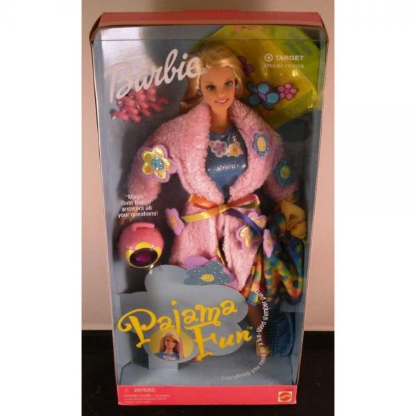 Mattel NEW 1999 Pajama Fun Barbie -Target Exclusive #26883 w/ Magic Date Ball