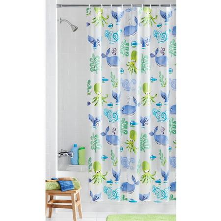Lighthouse Vinyl Shower Curtain (Mainstays Neptune PEVA Vinyl Shower Curtain, 1 Each )