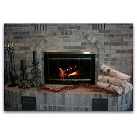 - Wilson Enterprises, Inc. 5 Piece Wood Fireplace Set