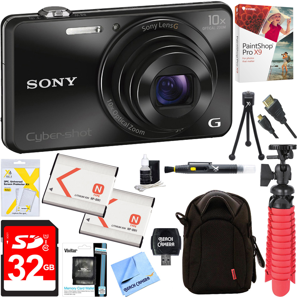 Sony Cyber-shot WX220 Compact Digital Camera with 10x Optical Zoom (Black) + 32GB - Best Reviews Guide