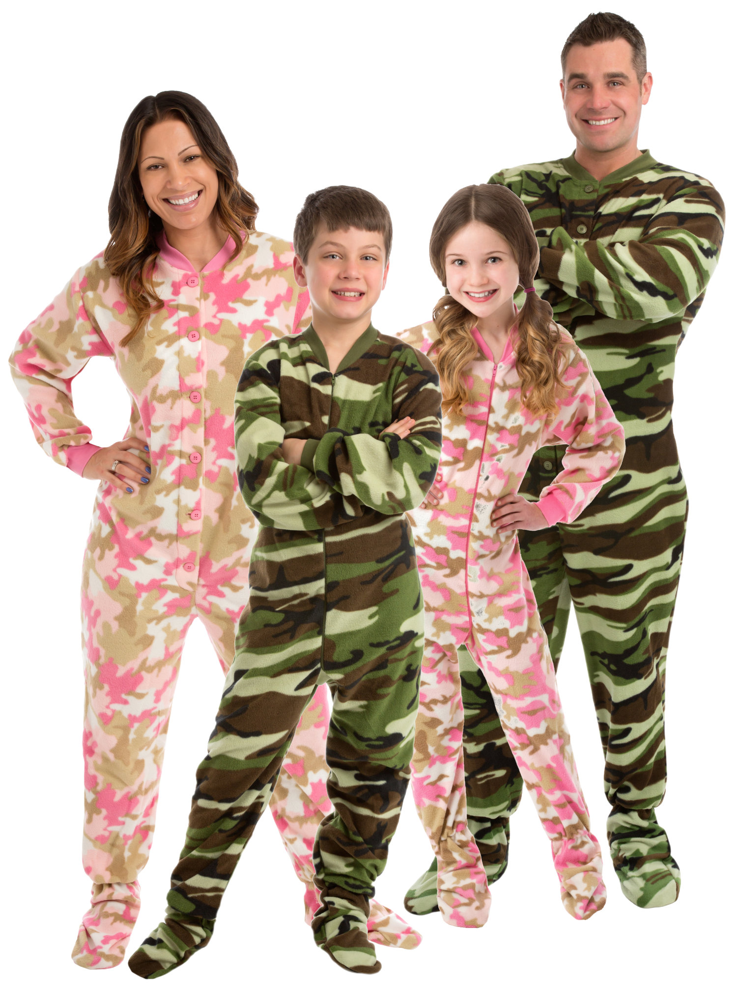 fa72bfedb59e Big Feet Pajamas - Big Feet Pjs Big Girls Pink Camo Kids Footed Pajamas One  Piece Sleeper - Walmart.com