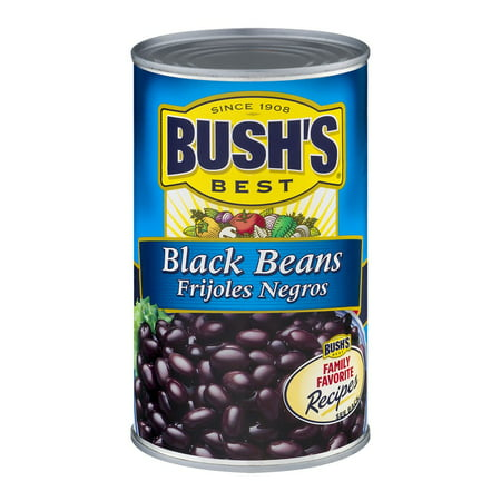 (6 Pack) Bush's Best Black Beans, 26.5 Oz (Best Canned Food For Humans)