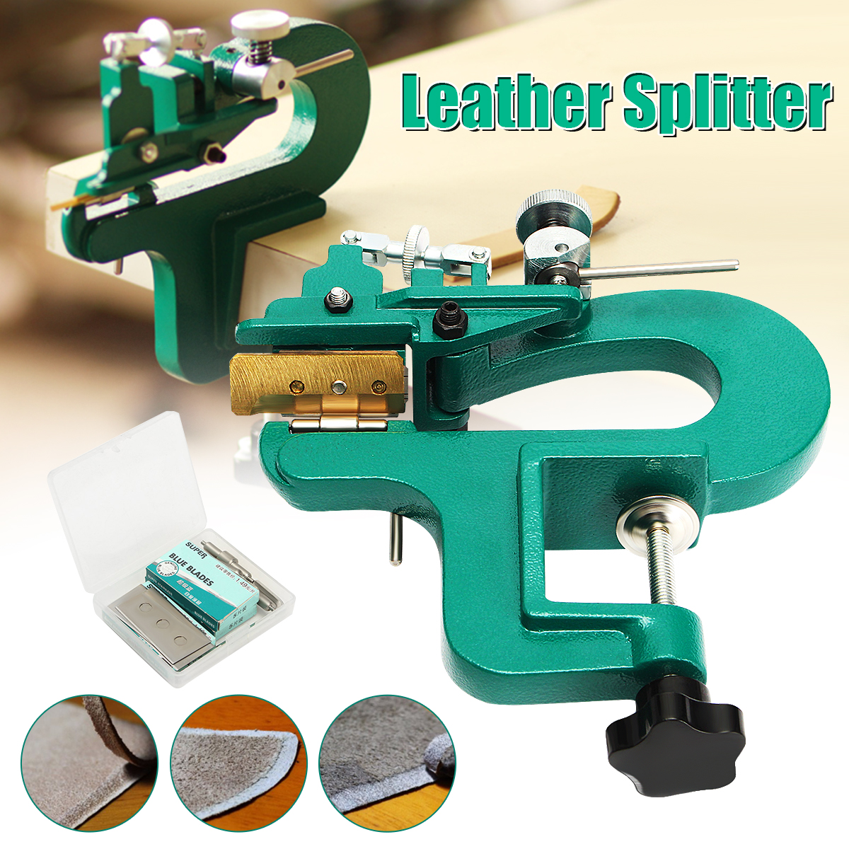 Edge Skiving Machine Leather Splitter Paring Machine Leather Skiver Blade Hot US