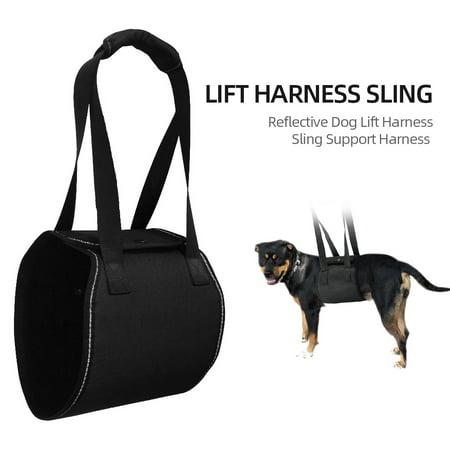 Dog Lift Harness Reflective Sling Support Harness for Veterinarian Dog Canine K9 Sling Lift Adjustable Straps XL ()