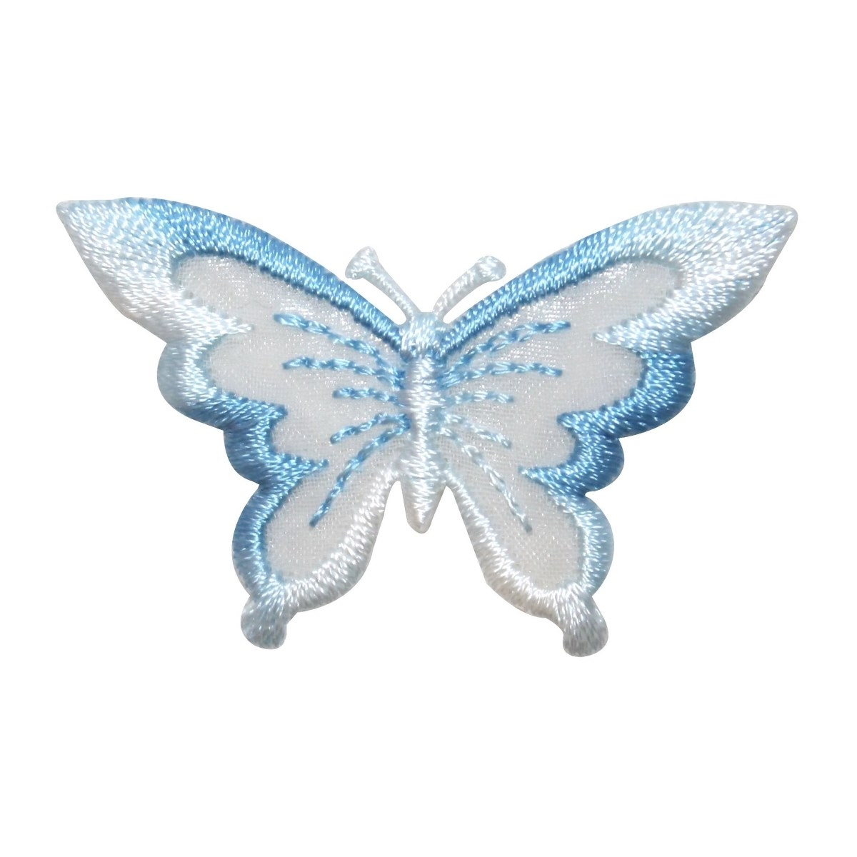 ID 2302B Lace Wings Butterfly Patch Fairy Garden Embroidered Iron On Applique